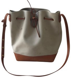 Mansur Gavriel Canvas Bucket Bucket Cross Body Bag