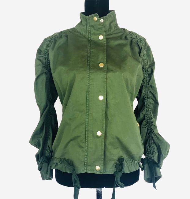 J.Crew Field Rushed Sleeve Green Jacket Image 1