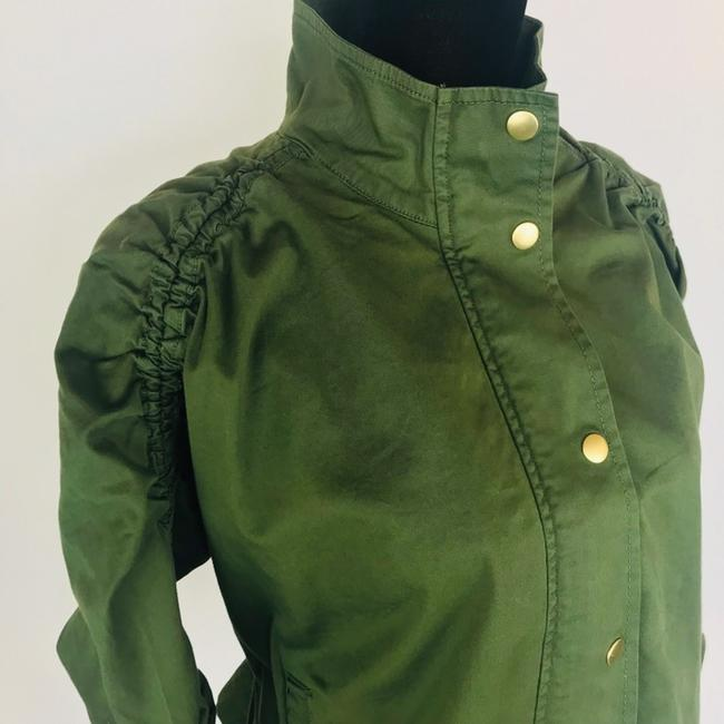 J.Crew Field Rushed Sleeve Green Jacket Image 2