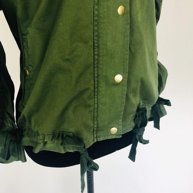 J.Crew Field Rushed Sleeve Green Jacket Image 3