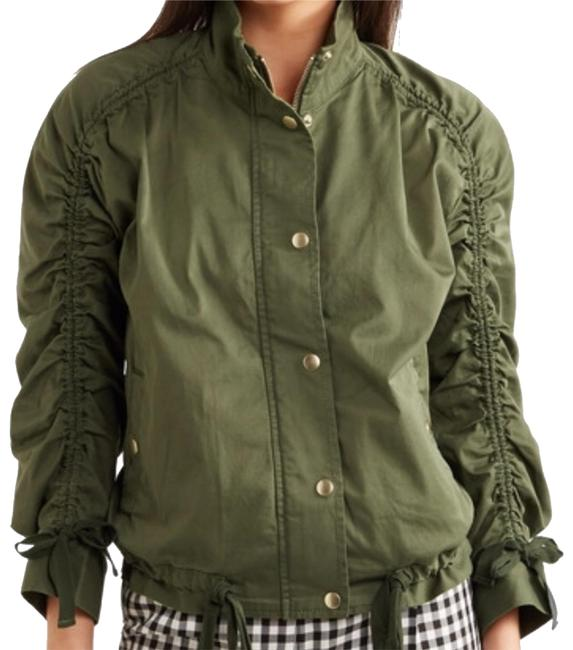 J.Crew Field Rushed Sleeve Green Jacket Image 7