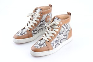 Christian Louboutin Multicolor Rantus Orlato Snakeskin Sneakers Shoes