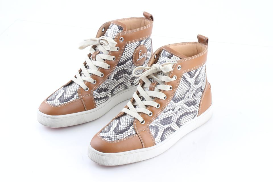a8ae09483d92 Christian Louboutin Multicolor Rantus Orlato Snakeskin Sneakers Shoes Image  0 ...