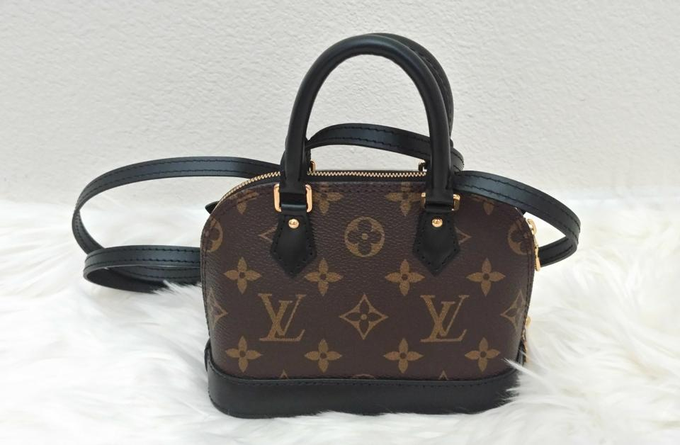 2b73f94e0870 Louis Vuitton Alma Nano Lovely Bird Brown Black Canvas Leather Cross Body  Bag - Tradesy