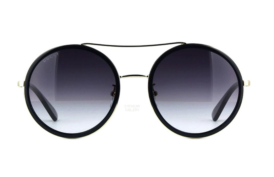 29699b1716 Gucci Large Rounded Gucci Style GG0061S 001 - FREE 3 DAY SHIPPING Round  Image 0 ...