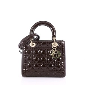 Dior Christian Leather Tote in brown