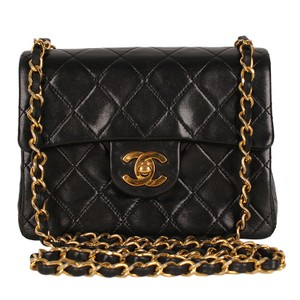 56b692c4e55d Chanel Flap Front Cc Turn Lock Gold Hardware Mini Lambskin Shoulder Bag