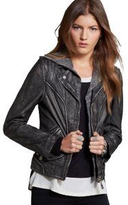 DOMA Hood Punk Leather Jacket
