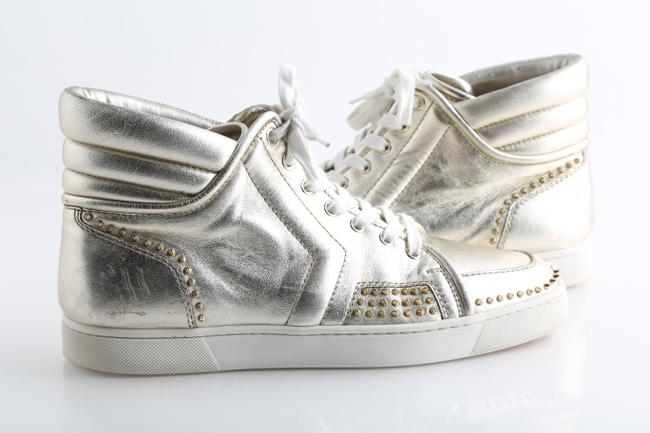 "Christian Louboutin Gold ""Sporty Dude"" Light Sneakers Shoes Christian Louboutin Gold ""Sporty Dude"" Light Sneakers Shoes Image 1"