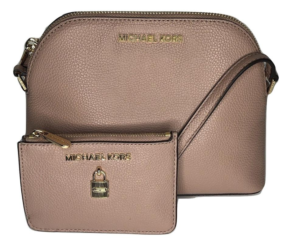 5a782b41128a Michael Kors Emmy Matching Set Leather Pink Cross Body Bag Image 0 ...
