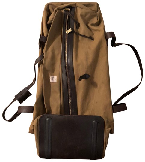9bb4ff7f7a69 Filson Extra Large Rugged Twill Rolling Duffle Tan with Brown ...