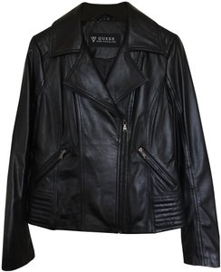 Guess black Leather Jacket