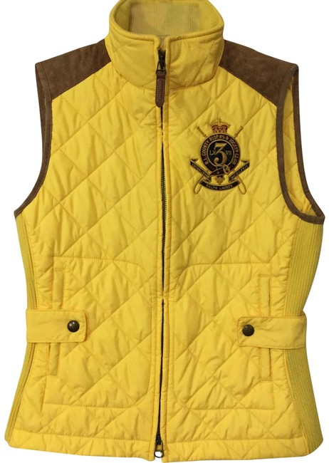 Item - Yellow Equestrian Puffer Vest Size 4 (S)
