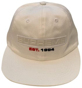 fe141ef91b3 Supreme Supreme Embossed Box Logo 6-Panel White Hat
