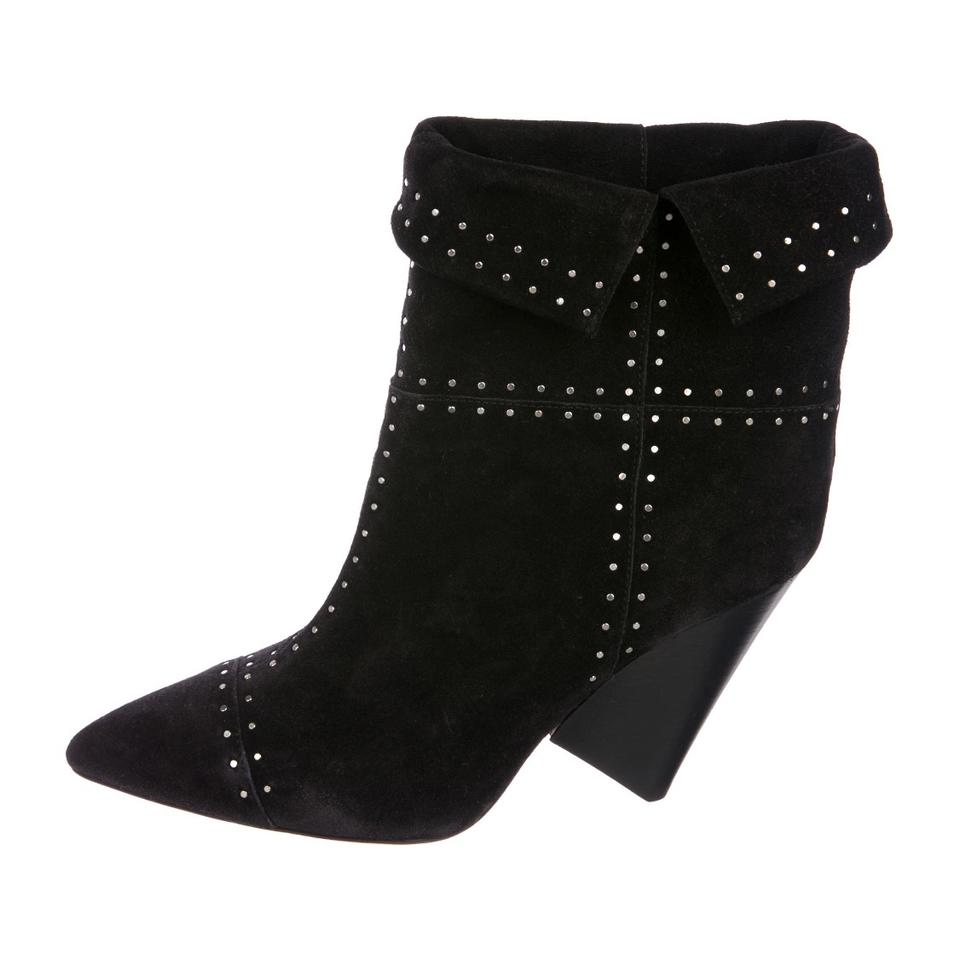 a58186ddc93b Isabel Marant Black Lizynn Studded Ankle Boots Booties Size EU 39 ...