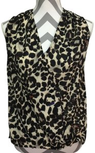 Renee C. Evereve Jungle Print Animal Print Draped Top