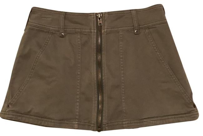Item - Army Green Zip Skirt Size 0 (XS, 25)