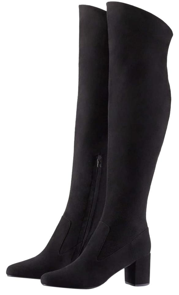 36417b0318f Vince Black New    Blythe Over The Knee Suede New M Boots Booties ...