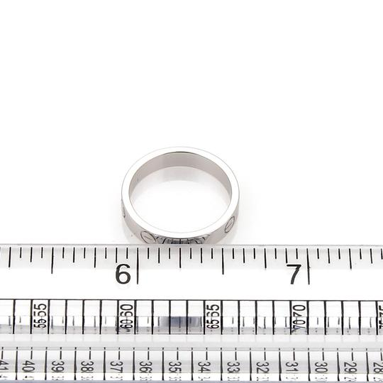 Cartier Mini Love 18k White Gold 3.5mm Band Ring Size 48 w/Certificate Image 4
