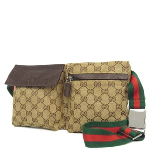 6deb9d8fc12f Added to Shopping Bag. Gucci Cross Body Bag. Gucci Waist Fanny Pack Bum Brown  Canvas ...