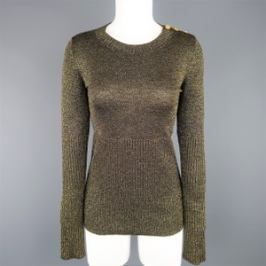 Chanel Lurex Sparkle Button Shoulder Sweater