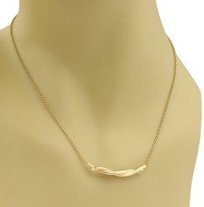 Cartier Twisted Bar 18k Yellow Gold Pendant Necklace