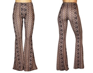 Daisy Del Sol Leggings Hippie Stretch Flare Pants Black & Beige