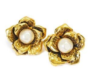 Chanel Rare! Vintage Chanel Faux Pearl Earrings
