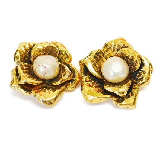 Chanel Rare! Vintage Chanel Faux Pearl Earrings Image 1