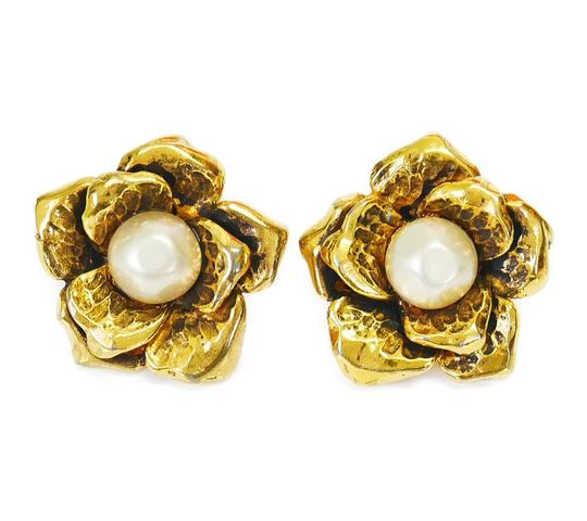 Chanel Rare! Vintage Chanel Faux Pearl Earrings Image 2