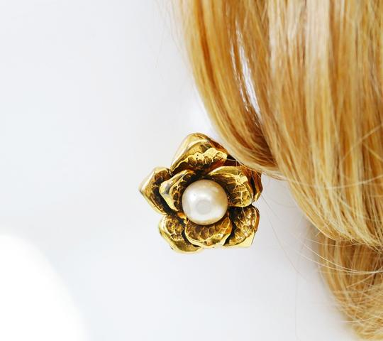 Chanel Rare! Vintage Chanel Faux Pearl Earrings Image 5