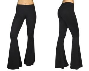 Daisy Del Sol Bell Leggings Hippie Stretch Bell Flare Pants Black