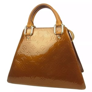 Louis Vuitton Leather Monogram Luxury European Rare Satchel in gold