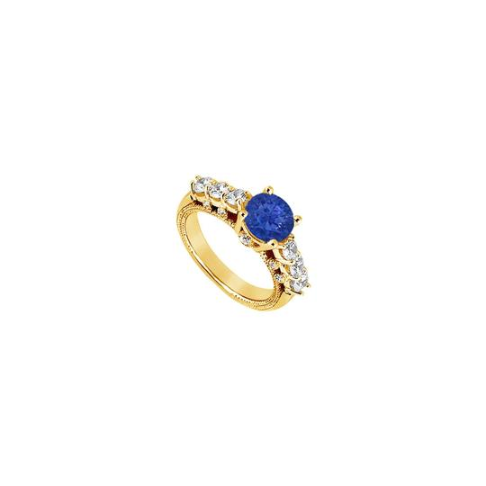 Preload https://img-static.tradesy.com/item/24287234/blue-created-sapphire-and-cubic-zirconia-engagement-yellow-gold-vermei-ring-0-0-540-540.jpg