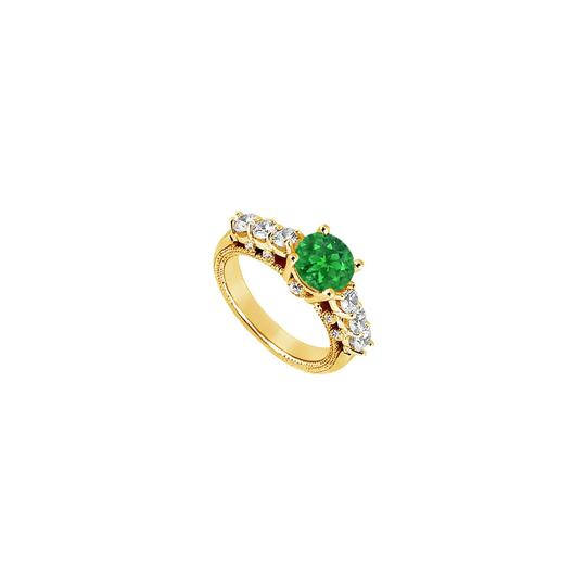 Preload https://img-static.tradesy.com/item/24287247/green-created-emerald-and-cubic-zirconia-engagement-yellow-gold-vermeil-ring-0-0-540-540.jpg