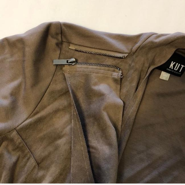 KUT from the Kloth Brown, Taupe Leather Jacket Image 2