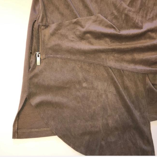 KUT from the Kloth Brown, Taupe Leather Jacket Image 4