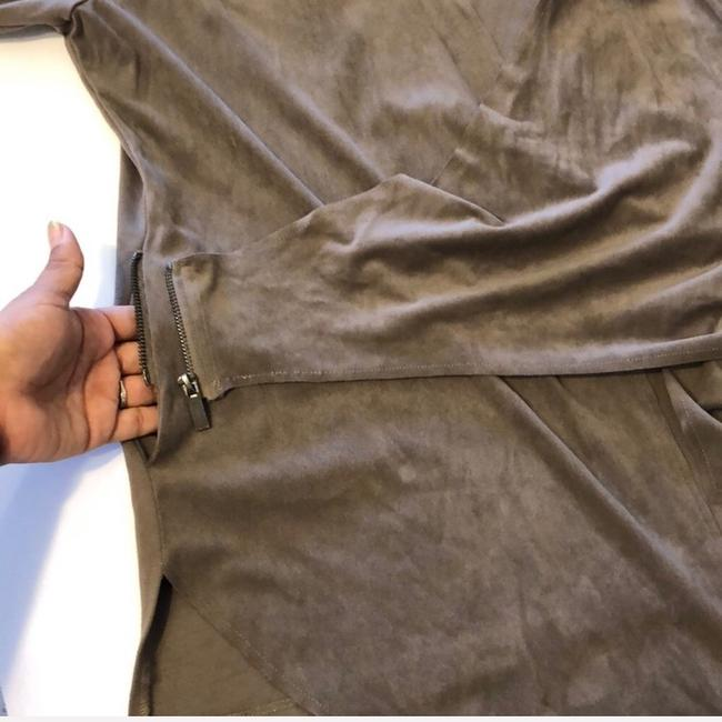 KUT from the Kloth Brown, Taupe Leather Jacket Image 5