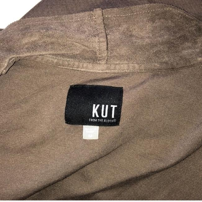 KUT from the Kloth Brown, Taupe Leather Jacket Image 6