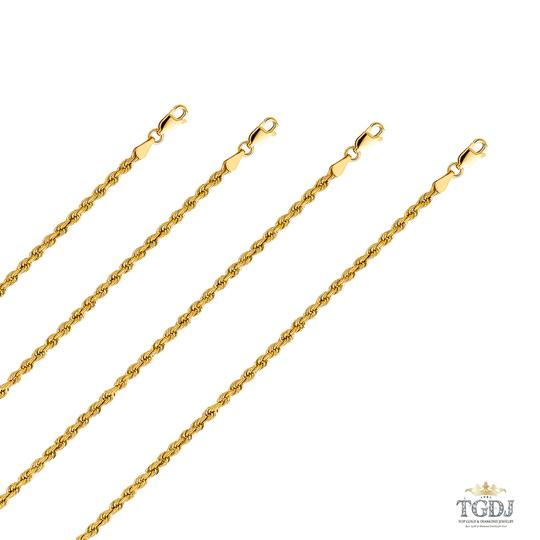 Top Gold & Diamond Jewelry 14k Yellow Gold 3mm Hollow Rope Regular Chain - 18