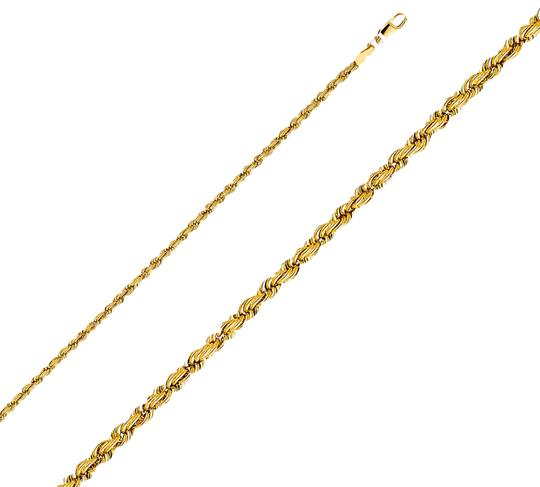 Top Gold & Diamond Jewelry 14k Yellow Gold 3mm Hollow Rope Regular Chain - 20