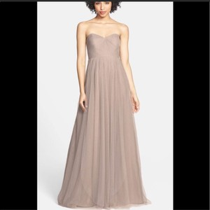 Jenny Yoo Mink Grey Anabelle Tulle Convertible Gown Feminine Bridesmaid/Mob Dress Size 10 (M)