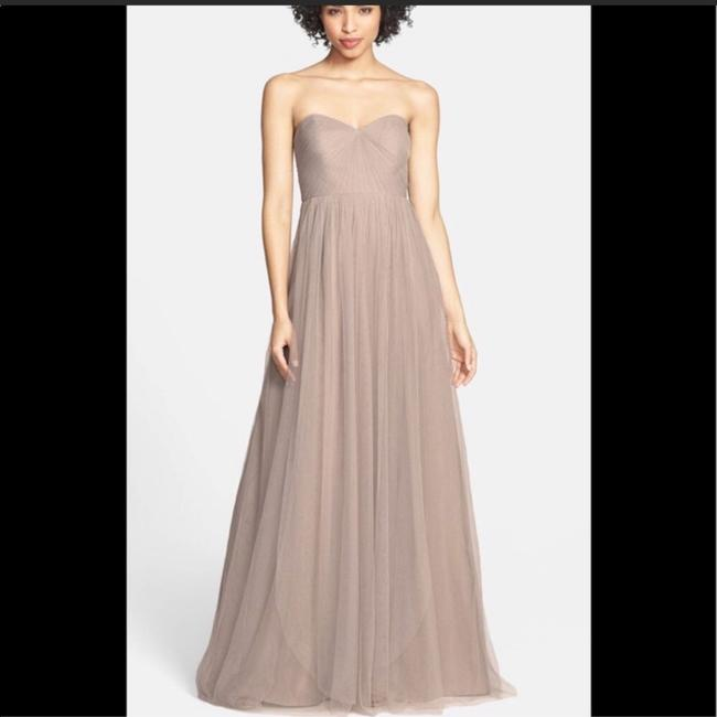 Item - Mink Grey Anabelle Tulle Convertible Gown Feminine Bridesmaid/Mob Dress Size 10 (M)
