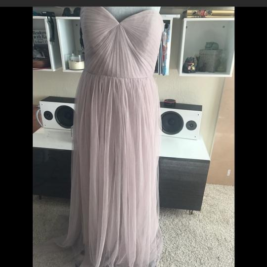 Jenny Yoo Mink Grey Anabelle Tulle Convertible Gown Feminine Bridesmaid/Mob Dress Size 10 (M) Image 1