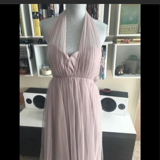 Jenny Yoo Mink Grey Anabelle Tulle Convertible Gown Feminine Bridesmaid/Mob Dress Size 10 (M) Image 2