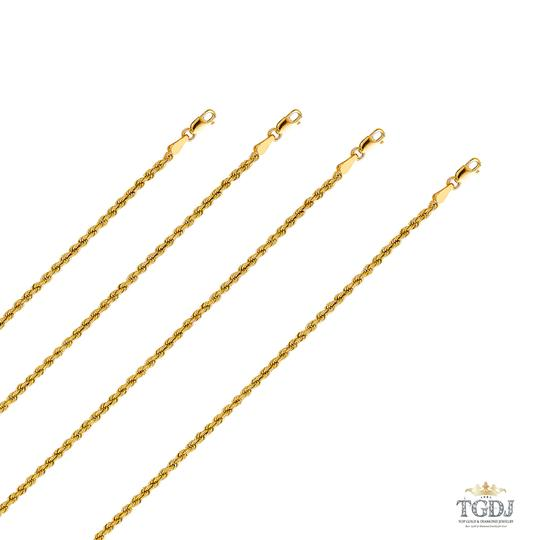 Top Gold & Diamond Jewelry 14k Yellow Gold 2.5mm Hollow Rope Regular Chain - 18