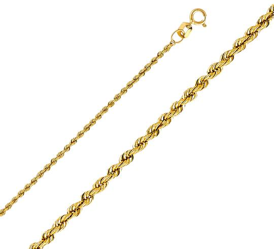 Top Gold & Diamond Jewelry 14k Yellow Gold 1.5 mm Hollow Rope Regular Chain - 18