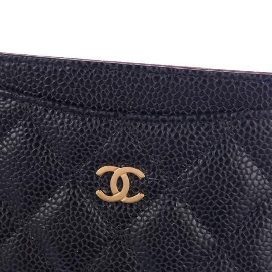 Chanel Classic Cardholder Wallet in Caviar and Gold Hardware Image 5