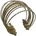 Vintage Vintage Gold Multi Strand Metal Bangle Style Bracelet Image 0