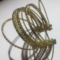 Vintage Vintage Gold Multi Strand Metal Bangle Style Bracelet Image 1